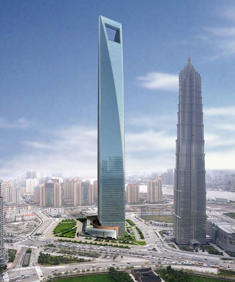 El Shangai World Financial Centre con 492 mt de altura